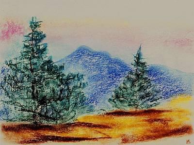 Drawing - Mountain Top by Karen Buford