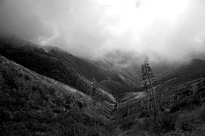 Mountain Valley Black And White Art Print by Gilbert Artiaga