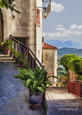 Photograph - Mountain Village Impasto by Sharon Foster