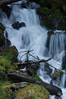 Photograph - Mountain Waterfall by Michael Merry