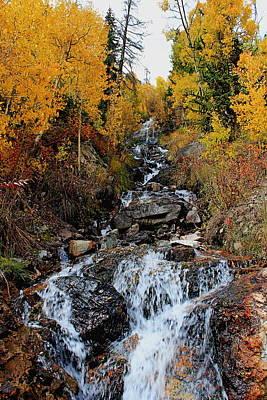 Photograph - Mountain Waterfall by Trent Mallett
