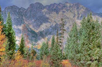 Mountains And Trees Art Print by Kathleen Struckle