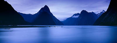 Mountains At Dawn, South Island, New Art Print by Panoramic Images