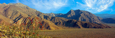 Mountains In Anza Borrego Desert State Print by Panoramic Images