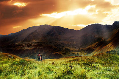 Height Photograph - Mountains Sunset Landscape by Michal Bednarek