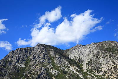 Photograph - Mountainside Near Lake Tahoe by Frank Romeo