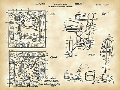 Goldberg Digital Art - Mouse Trap Board Game Patent 1962 by Stephen Younts