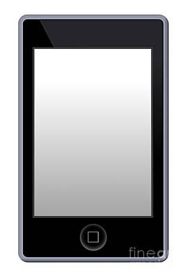 Music Ipod Digital Art - Mp3 Phone Player by Henrik Lehnerer