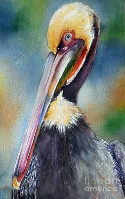 Malibu Lagoon Painting - Mr Handsome by Patricia Pushaw