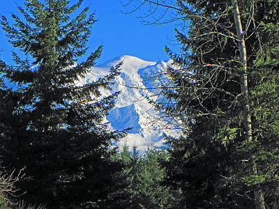 Print featuring the photograph Mt. Rainier I by Tikvah's Hope