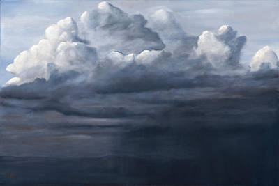 Painting - Mt. Taylor Storm by Jack Atkins