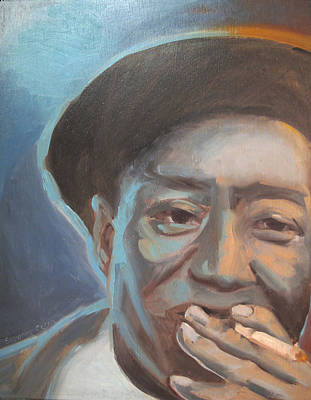 Painting - Muddy Waters Blues Guitarist by Suzanne Cerny