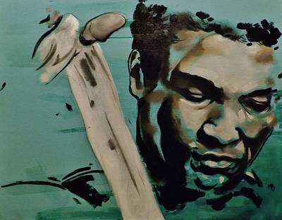 Painting - Muhammad Ali by Matt Burke