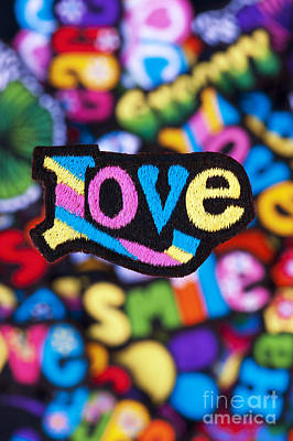 Multicoloured Love  Art Print by Tim Gainey