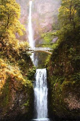 Digital Art - Multnomah Falls by Kaylee Mason