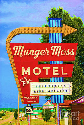 Munger Moss Motel Art Print