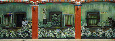 Artichoke Photograph - Mural On A Wall, Cancun, Yucatan, Mexico by Panoramic Images