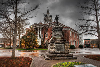 Old Town Digital Art - Murfreesboro Town Hall by Brett Engle