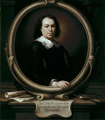 Self-portrait Photograph - Murillo, Bartolom� Esteban 1617-1682 by Everett