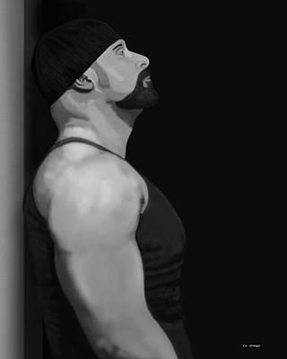 Muscle Shirt Art Print by Tim Stringer