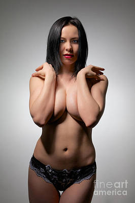 Sexual Human Nature Photograph - Muscular Hands Over Breast by Aleksey Tugolukov