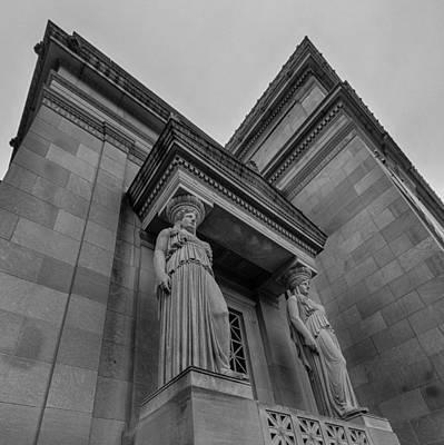Caryatids Photograph - Museum Caryatids by Mike Burgquist