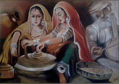 Indian Musical Instrument Painting - Music Of Life by Shilpi Singh