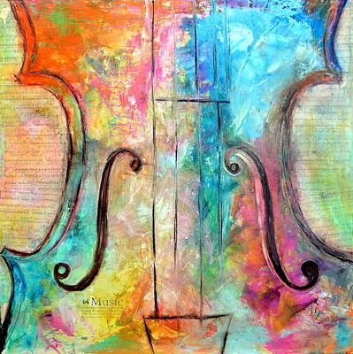 Piano Painting - The Sound Of Heaven by Ivan Guaderrama
