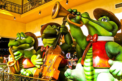 Saxophone Photograph - Musical Frogs by Jon Berghoff