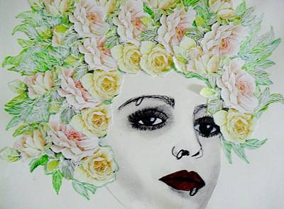 My Flowered Hat Art Print by Suzanne Thomas