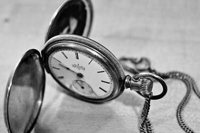 Photograph - Open Pocket Watch by CJ Rhilinger