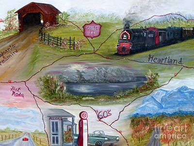 Painting - My Route 66 by Vivian Cook