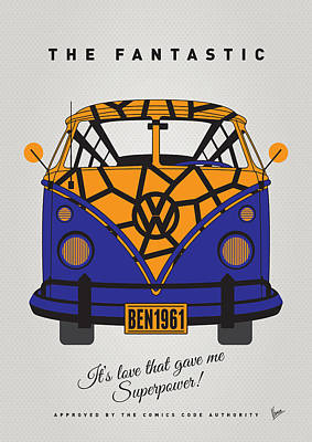 Digital Art - My Superhero-vw-t1-the Thing by Chungkong Art