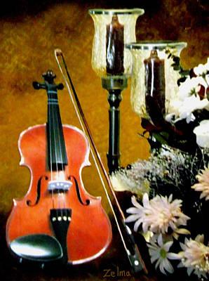 My Violin Art Print by Zelma Hensel