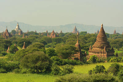 Myanmar Bagan The Plain Of Bagan Art Print