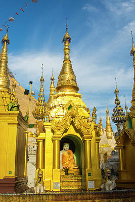 Myanmar Yangon Shwedagon Pagoda Buddha Art Print by Inger Hogstrom