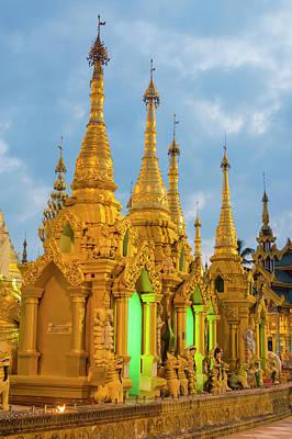 Myanmar Yangon Shwedagon Pagoda Gold Art Print by Inger Hogstrom