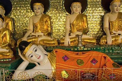 Myanmar Yangon Shwedagon Pagoda Art Print by Inger Hogstrom