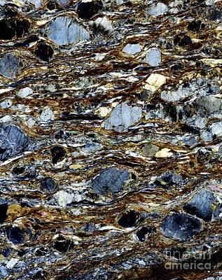 Mylonite Mineral, Light Micrograph Art Print