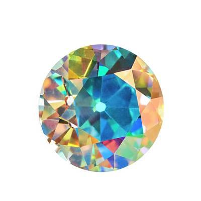 Mystic Topaz Gemstone Art Print by Science Photo Library