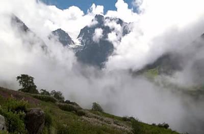 Hoodie Mixed Media - Nanda Devi Peaks On Mount Himalaya North India  by Navin Joshi