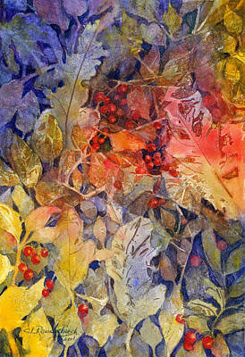 Painting - Nandina And Other Fall Foliage by Cynthia Roudebush