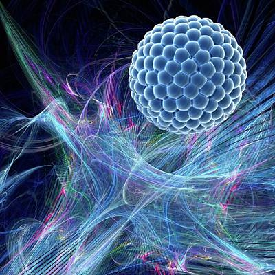 Nanoparticle Art Print by Laguna Design/science Photo Library