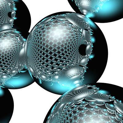 Digital Art - Nanotube #14 by Russell Kightley