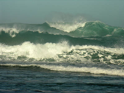 Photograph - Napali Coast Winter Waves by Robert Lozen