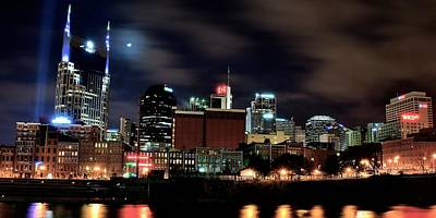 Nashville Skyline Photograph - Nashville Panoramic View by Frozen in Time Fine Art Photography