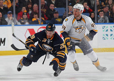 Photograph - Nashville Predators V Buffalo Sabres by Bill Wippert