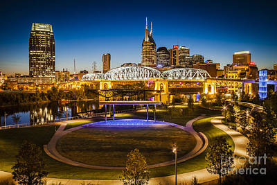 Photograph - Nashville Skyline by Brian Jannsen