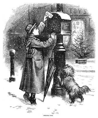 Nast Christmas, 1879 Art Print