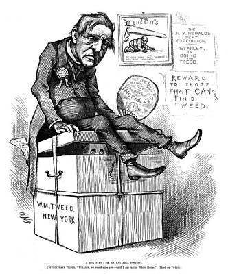 Nast Tilden Cartoon, 1876 Art Print by Granger